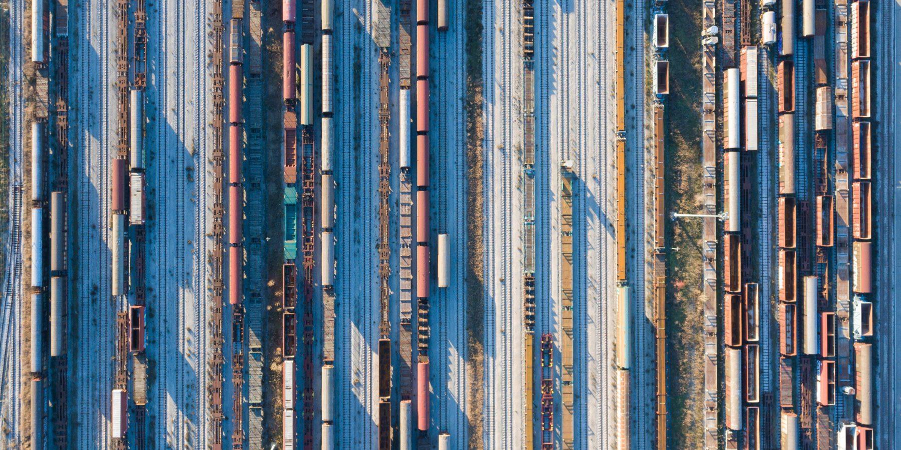 Bahnfracht: Waren-Transporte / Schienengüterverkehr per Zug